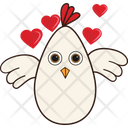 Hen With Love Icon