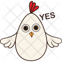 Hen Yes Icon