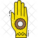 Henna Painted Hand Icon