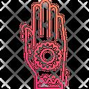 Henna Painted Hand Mehndi Henna Icon