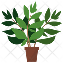 Henna Potted Plant Icon