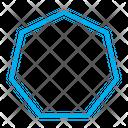 Heptagon Shape Heptagon Sign Shape Icon