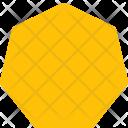 Heptagon Shapes Icon