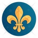 Heraldic Royal Lily Icon