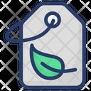 Herb Tag Label Leaf Icon