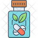 Herbal Medicine Bottle Ayurvedic Pills Icon