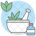 Phytotherapy Traditional Medicine Mortar And Pestle Icon