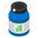 Herbal Medicine Pills Jar Medication Icon
