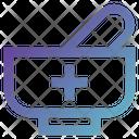 Herbal Mortar Mortar Medicine Icon