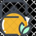 Herbal Tea Teapot Flowering Tea Icon