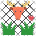Herbivore Grass Deer Icon