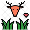 Herbivore Grass Deer Icon
