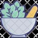 Herbs Kitchen Utensil Mortar Icon