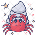 Hermit Crab Seafood Sea Creature Icon