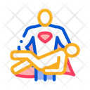Hero Holds Hands Icon