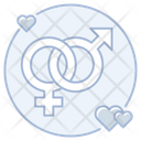 Heterosexual Marriage Couple Icon