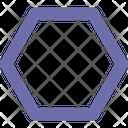 Hexagon Outline Symbol Icon