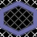Hexagon Outline Sign Icon