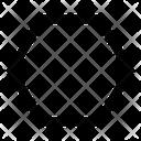 Hexagon Shape Shapes Icon