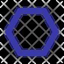 Hexagon Shape Geometry Icon