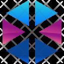 Hexagon Parts Logogram Icon