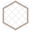 Hexagon Shape Geometric Icon
