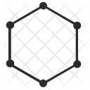 Hexagon Curves Dots Icon