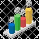 Hexagon Chart Bar Chart Data Analytics Icon
