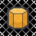 Hexagon Geometric Shape Icon