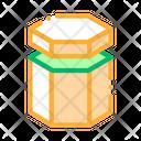 Carton Container Hexagon Icon