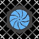 Hexagonal Shutter Icon