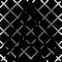 Hexagonal cone Icon