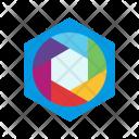 Hexagonal diaphragm Icon