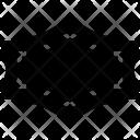 Hexagonal Frame Curves Icon