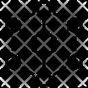Hexagonal Interconnections Interconnectivity Architecture Icon