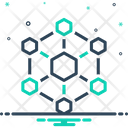 Hexagonal Interconnections Interconnectivity Architecture Icon