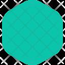 Hexagone Smooth Decoretive Icon