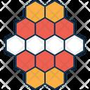 Hexagons Molecule Compound Icon