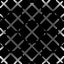 Hexagons Diagram Pattern Icon