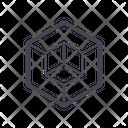 Hexahedron Ornament Box Icon