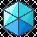 Hexahedron Shape Design Icon
