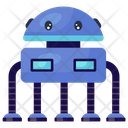 Hexapod Robot Mechanical Robot Bionic Man Icon