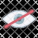 Eye Hide Hidden Icon