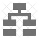 Hierarchical Network Structure Icon