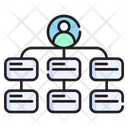 Hierarchical Structure Organization Group Icon