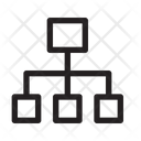 Hierarchy Structure Network Icon