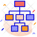 Hierarchy Road Map Scheme Icon