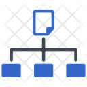 Hierarchy Flowchart Network Icon