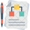 Hierarchy Sheet Paper Icon