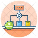 Business Network Business Connections Corporate Hierarchy Icon